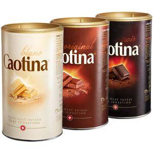 CACAO - CHOCOLAT Caotina set de 3, original, noir, blanc, Poudre de