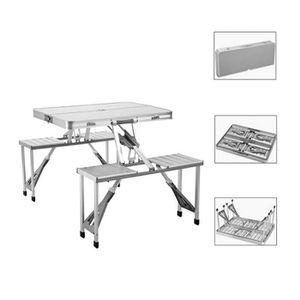 TABLE ET CHAISES CAMPING Table Pliante Avec Les Chaises Exterieure Portati