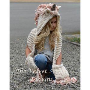 ECHARPE DE BAPTÊME LICH enfants chapeau Licorne bonnet laine crochet 1f46531efce