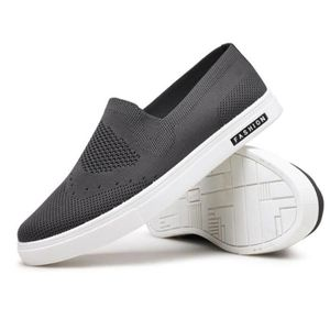 Basket homme chaussures Moccasins Poids fashion Loafer Durable Confortable Antidérapant résistantes à l'usure Sneakers fashion Blanc Blanc - Achat / Vente basket  - Soldes* dès le 27 juin ! Cdiscount