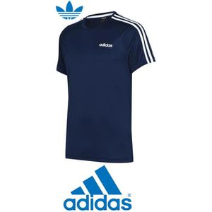 competitive price 23817 597f0 T-SHIRT TEE SHIRT ADIDAS HOMME BLEU NAVY CLIMALITE SPORT