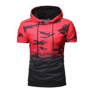 d3b3f476bb T-SHIRT Camouflage Pull Casual Hommes capuche manches cour