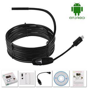 ENDOSCOPE NUMÉRIQUE 5M Android Endoscope 5mm 6 LED USB caméra d'Inspec
