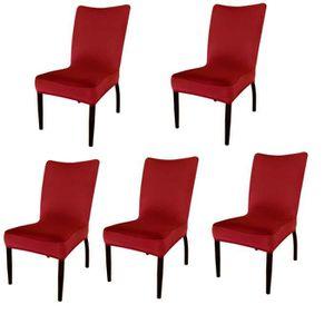 Housse de chaise extensible rouge - Achat / Vente Housse ...