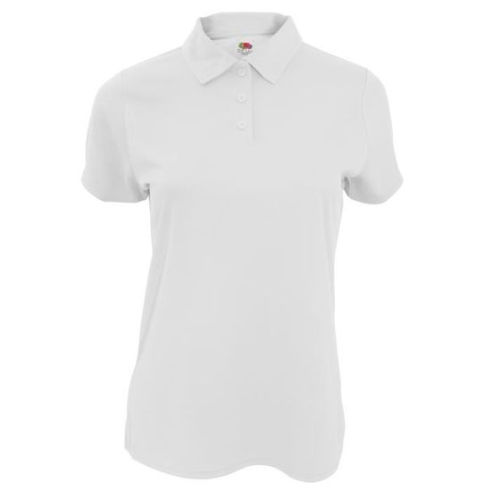 Fruit Of The Loom - Polo sport - Femme Blanc - Achat   Vente polo -  Cdiscount 11b20ef3493f