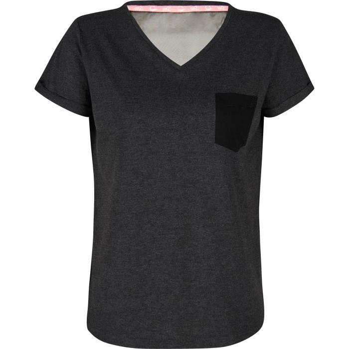 UP2GLIDE T-shirt Ena V 2 - Femme - Gris anthracite