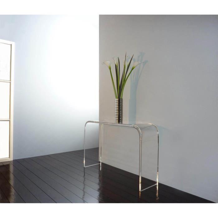 fecc07d9967bd Console verre acrylique console modern console de salon table verre  acrylique de salon