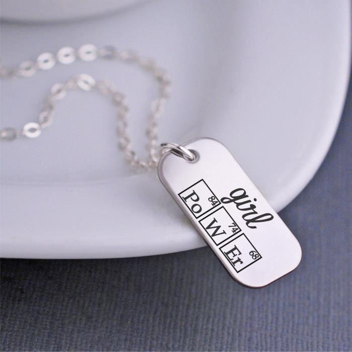 cadeau de graduation collier périodique de la puissance des femmes YE24A
