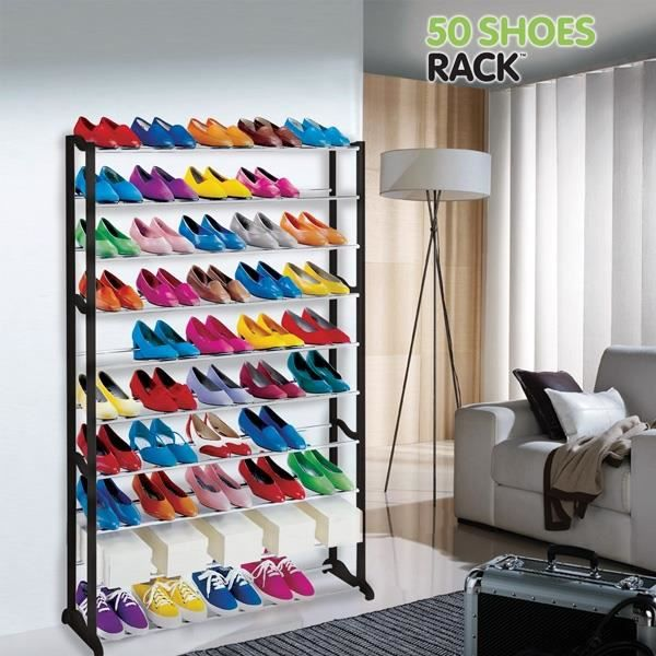 Meuble Rangement Chaussures (50 Chaussures) 50 Schoes Rack Bonnes Idees