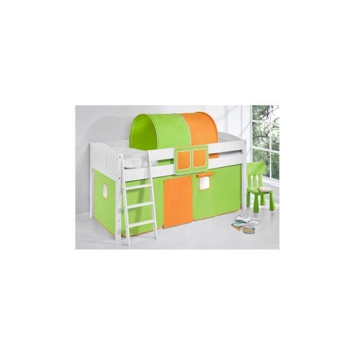 LIT MI-HAUT EVOLUTIF MOON - vert-orange