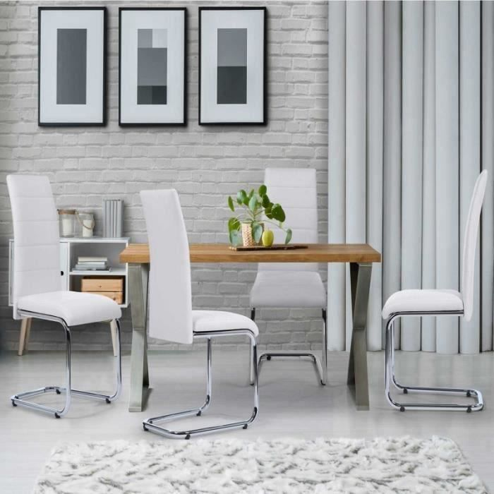 Chaise Blanche Pieds Chrome