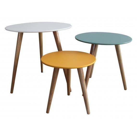 set 3 tables gigognes stockholm achat vente table gigogne set 3 tables gigognes stock. Black Bedroom Furniture Sets. Home Design Ideas