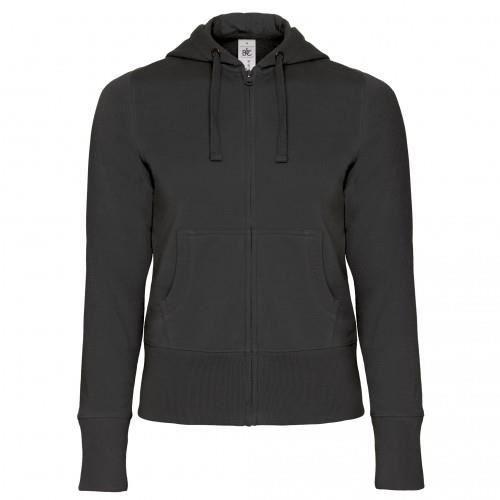 Zippée B Et À Bleu Fermeture Roi amp;c Capuche Sweatshirt gris blanc noir rouge ZqS1q4I