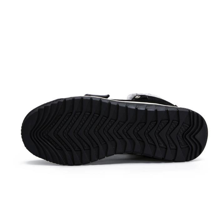Sidneyki®Les hommes bas garniture cheville plat cheville automne hiver bottes chaudes sport chaussures Noir ASD779 TL3RuUzoG