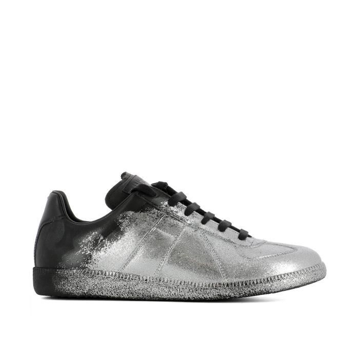 MAISON MARGIELA HOMME S57WS0153SY0623963 ARGENT CUIR BASKETS