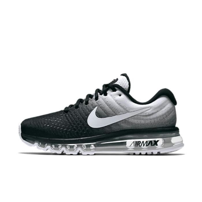 half off 42e00 f6913 NIKE Airmax 2017 Homme Basket Running Chaussures Noir Blanc 849559-010