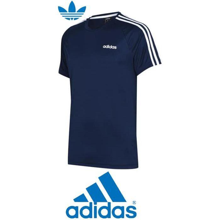 t shirt de sport adidas bleu homme