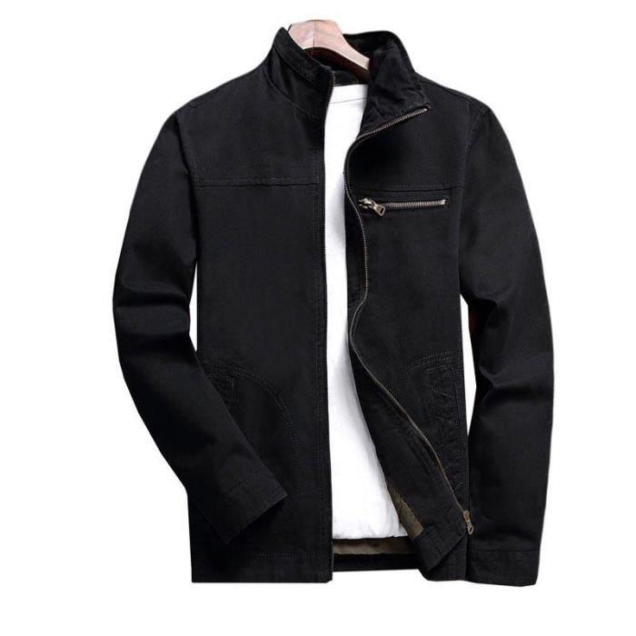 En Style Saison Mi Décontractée Homme Coton Veste 0gxXt5qww