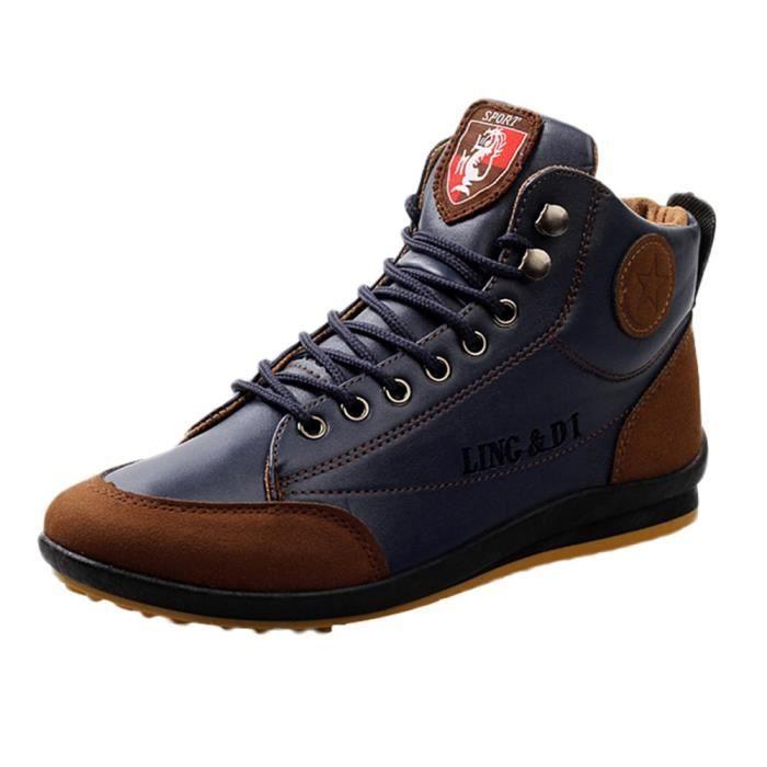 outlet store 6e250 246f4 6495@Chaussures homme Bottes en cuir sport Chaussures Casual style  britannique Vintage Shoes 5797