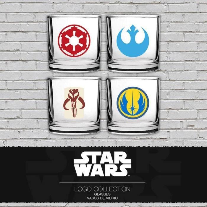 SET ACCESSOIRE CUISINE WTT STAR WARS Set de 4 Classic Logos Verre