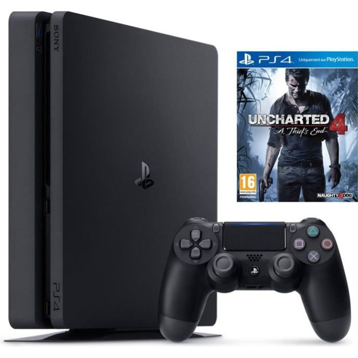 CONSOLE PS4 Nouvelle PS4 Slim 1 To + Uncharted 4 : A Thief's E
