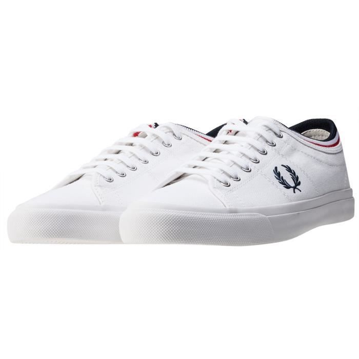 Fred Perry Kendrick Tipped Cuff Hommes Baskets Navet Blanc - 11 UK