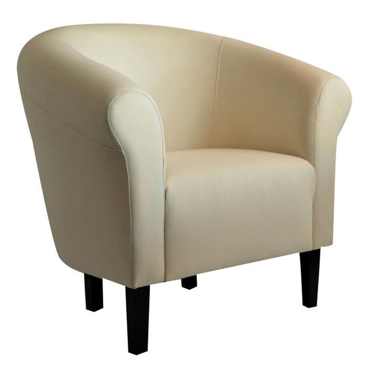 fauteuil crapaud monaco savane beige chin achat vente fauteuil cdiscount. Black Bedroom Furniture Sets. Home Design Ideas