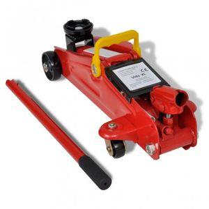 CRIC Cric hydraulique roulant 2 tonnes Rouge outils gar