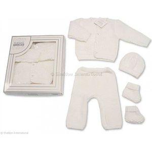 94ce9fff58ee0 COFFRET CADEAU TEXTILE Nursery Time - Coffret Tricot Naissance 4 pièces