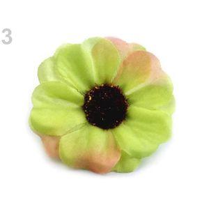 FLEUR ARTIFICIELLE 5pc 3green Lumière Artificielle Fleur Chefs Ø50mm,