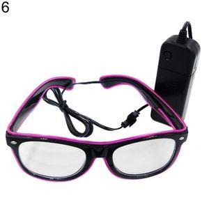 093be54229b LUNETTES DE SOLEIL Les lunettes LED EL Wire Light Up Glow Lunettes de ...