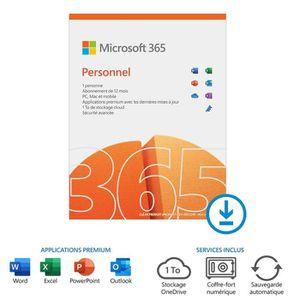 BUREAUTIQUE À TÉLÉCHARGER Microsoft Office 365 Personnel à télécharger Abonn