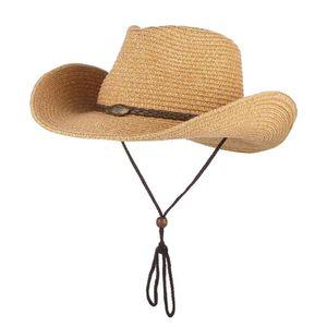 1589798f1423 CHAPEAU - BOB GEMVIE Chapeau Cowboy Western - Chapeau de Paille
