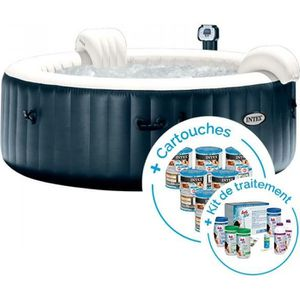 SPA COMPLET - KIT SPA Spa gonflable Intex PureSpa Plus Bulles 4 places +