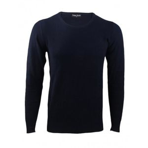 PULL Pull Yves Enzo col rond Laine Cachemire marine