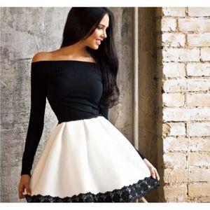 6fc7c931e2e Printemps Femme Tunique Robe de Soirée Épaule Nu Fashion Jupe Moulante top Manches  Longues Tutu Robe de Mariage