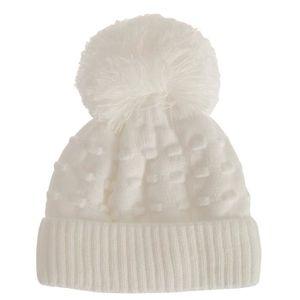 252d62b7228 Bonnet bosselé à pompon - Bébé fille Blanc - Achat   Vente bonnet ...