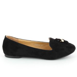 CHAUSSON - PANTOUFLE Go Tendance Chaussons Big Taille Style Black Suede