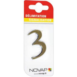 CONE - RUBAN CHANTIER Adhésif plastique en relief coloris or Novap - 3