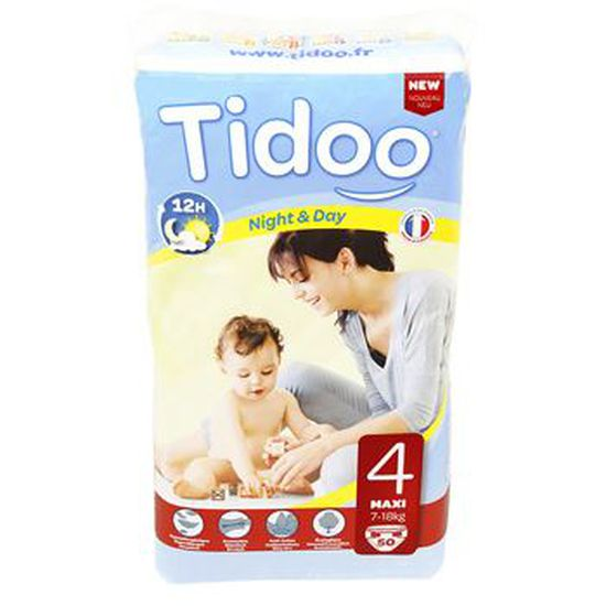Tidoo 50 Couches Taille 4 Maxi 7 18kg Achat Vente Couche