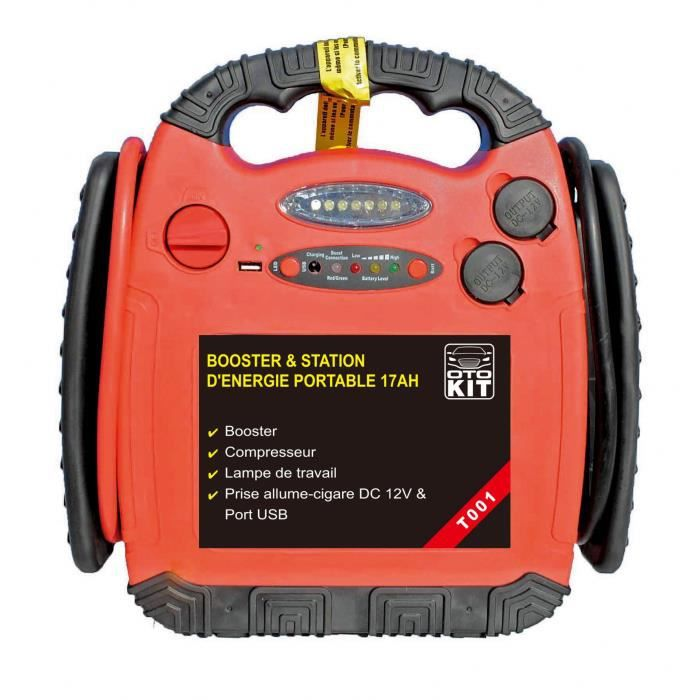 OTOKIT Booster de Démarrage T001 17 Ah avec Compresseur