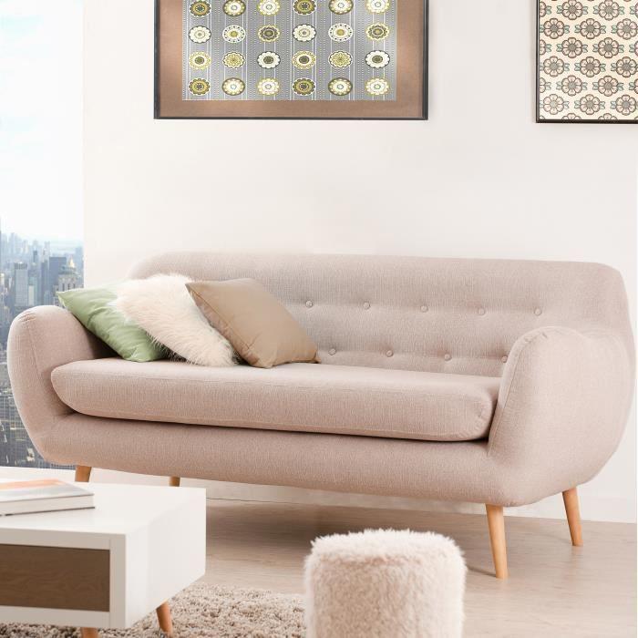 canap sofa divan canap 3 places kappa beige - Canape Beige