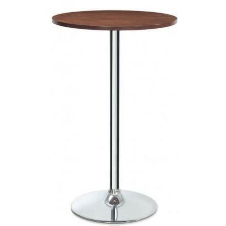 Table Haute de Bar Ronde Design Bois et Chrome Achat Vente table