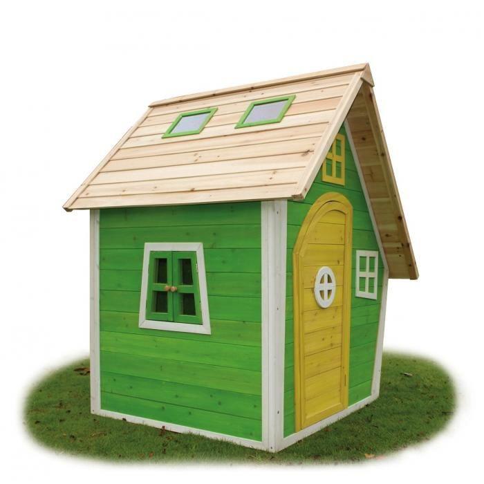 Chalet de jeux en bois pour enfants fantasia achat vente maisonnette ext rieure cdiscount - Chalet enfant ...