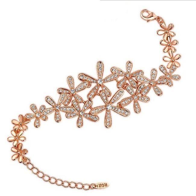 Cinq bracelet de fleurs de qualité.