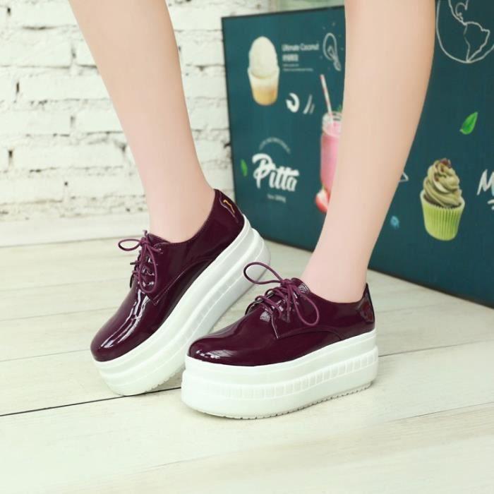 chaussures de skate-Pure Color Lace Toe jusqu...