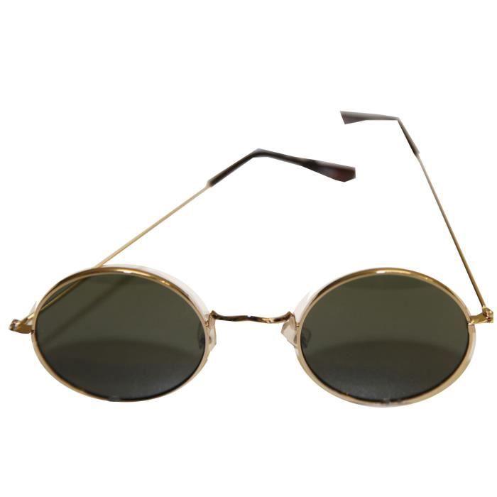2c3888ddcafd03 Lunette de Soleil Homme Femme Ronde Hippy John Lennon Rétro Protection UV  400!