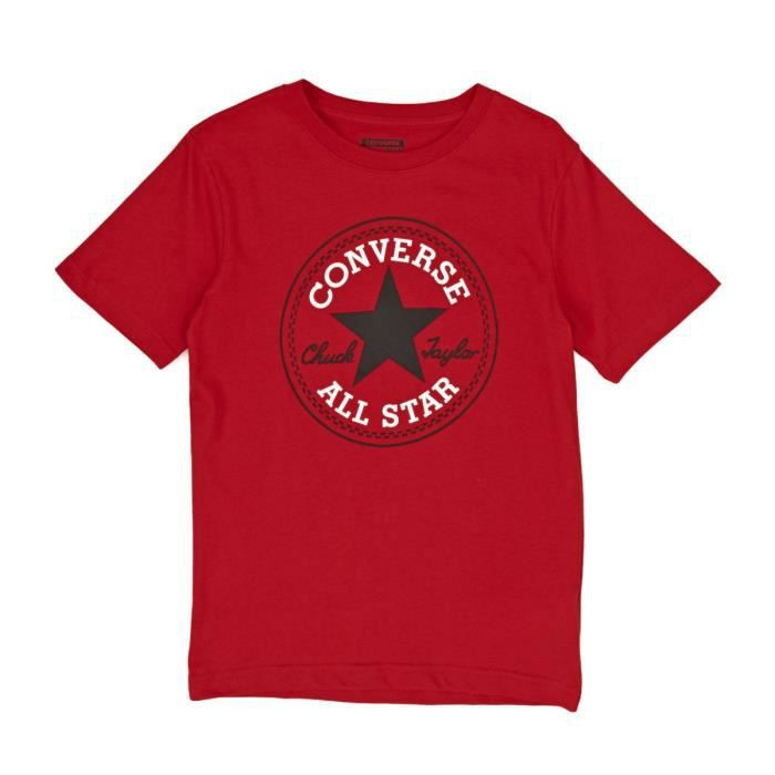 Converse Homme Casino Rouge Crew Tee All Star Chuck Taylor T