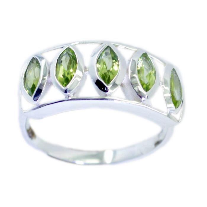 Bague péridot - anneau vert - bague en argent - anneau dargent vert