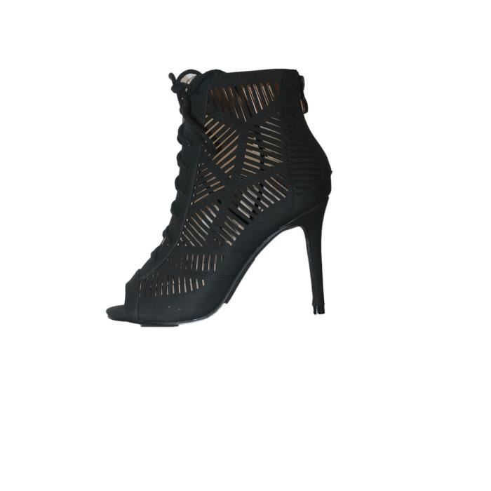 sandales talon aiguille haut noire